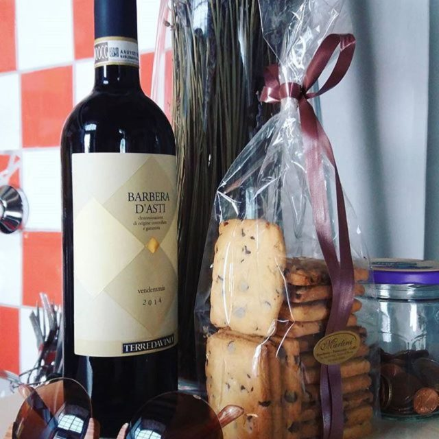 Good pairing Barbera TerredaVino amp homemade biscotti thanks grandmotherscooking